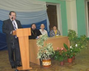 Интересным было выступление директора Русской классической школы №7, Н. Н. Червакова