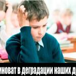 Современная школа способствует деградации нации